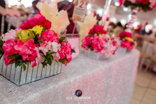 Nigerian event elegant centerpieces for corporate event, birthday and weddings