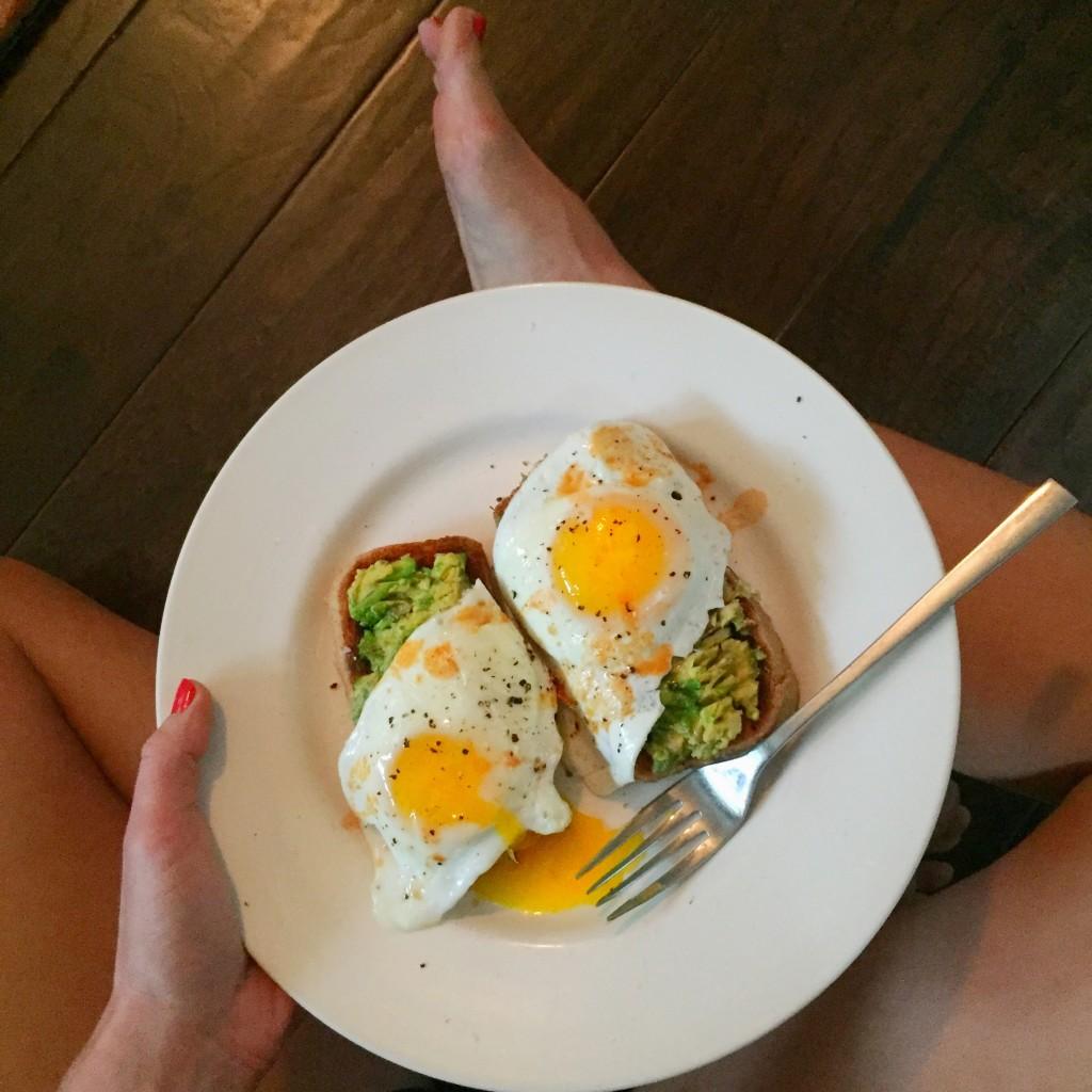 avocado toast lap