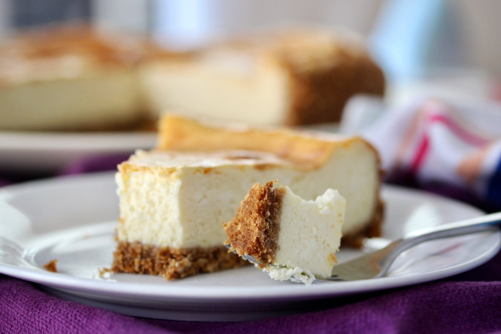 This image has an empty alt attribute; its file name is cheesecake-bite-in-focus-1024x683.jpg