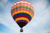 And there goes the first one - our local balloon from Morning Glory Balloon Tours