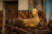 There were two of these lion-like figures that were recently restored.
