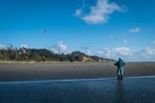 Ken flew his kite