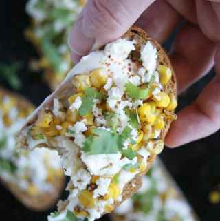Mexican Street Corn Crostini | A Nutritionist Eats