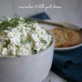 Cucumber & Dill Goat Cheese | A Nutritionist Eats