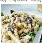 cherry chicken pasta salad recipe - pinterest