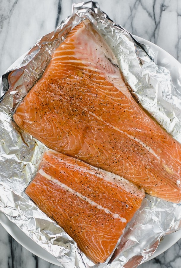grilled salmon for pasta salad