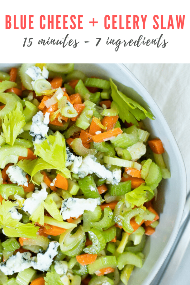 celery carrot and blue cheese coleslaw recipe - pinterest