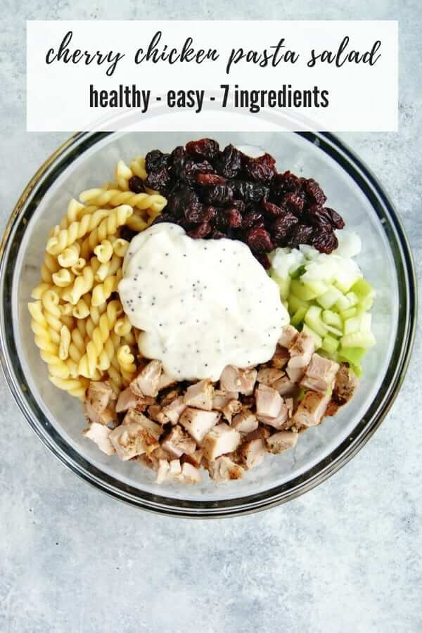 Cherry Chicken Pasta Salad