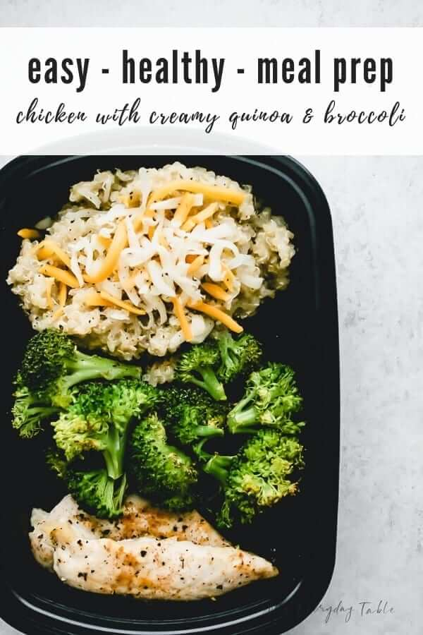 Chicken Meal Prep with Quinoa and Broccoli