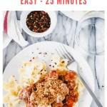 chicken parm pasta skillet - pinterest