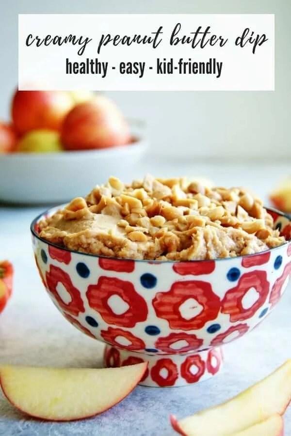 Creamy Peanut Butter Apple Dip