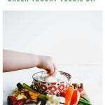 veggie dip recipe - pinterest image