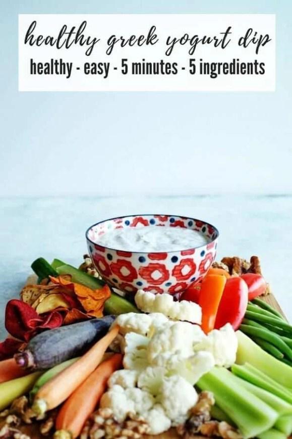 Healthy Greek Yogurt Veggie Dip