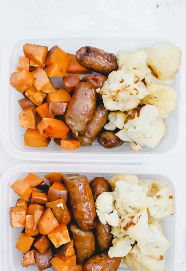 One Pan Sausage and Veggies Meal Prep 12