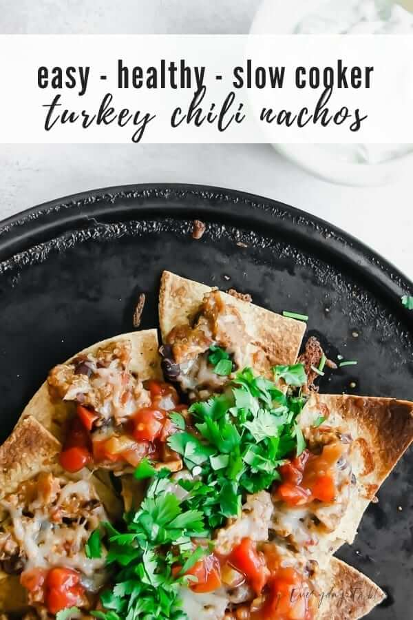 slow cooker turkey chili nachos
