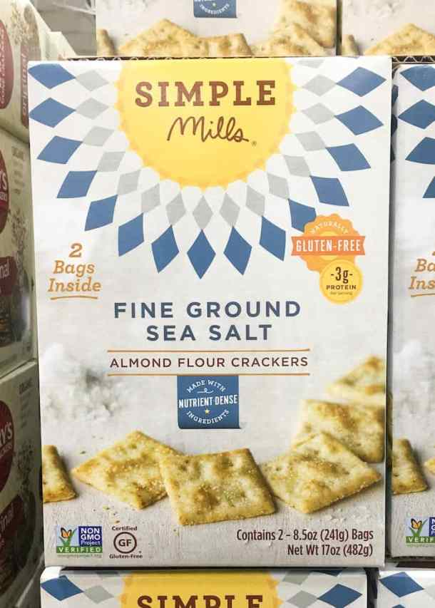simple mills almond flour crackers - costco snacks