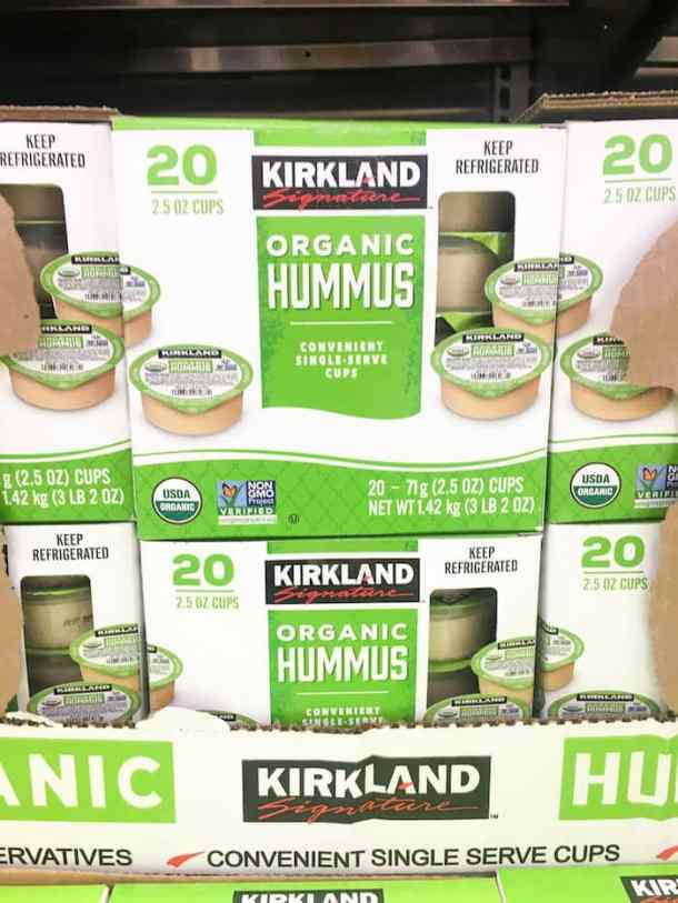 what to buy at costco - kirkland hummus cups