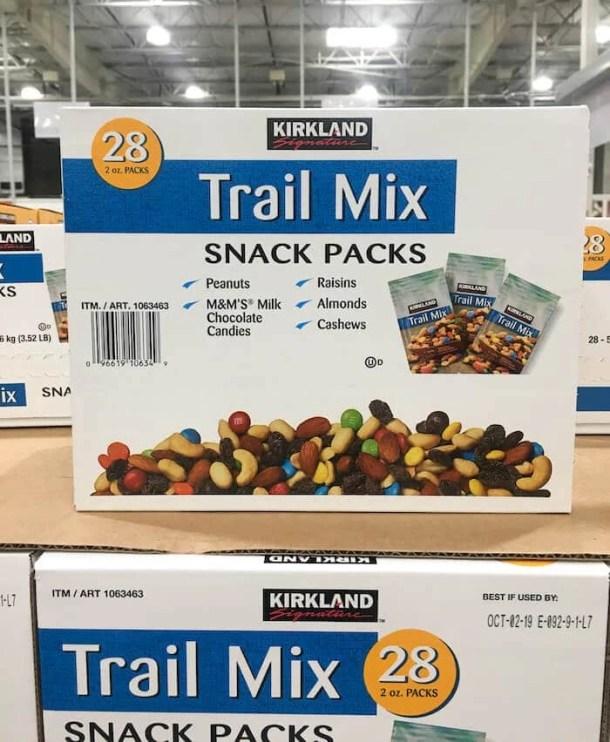 kirkland trail mix - best costco snacks
