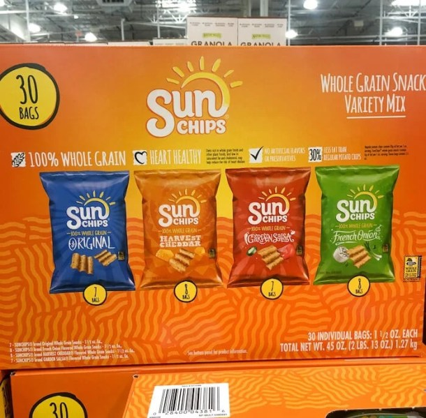 healthy snacks costco - sunchips