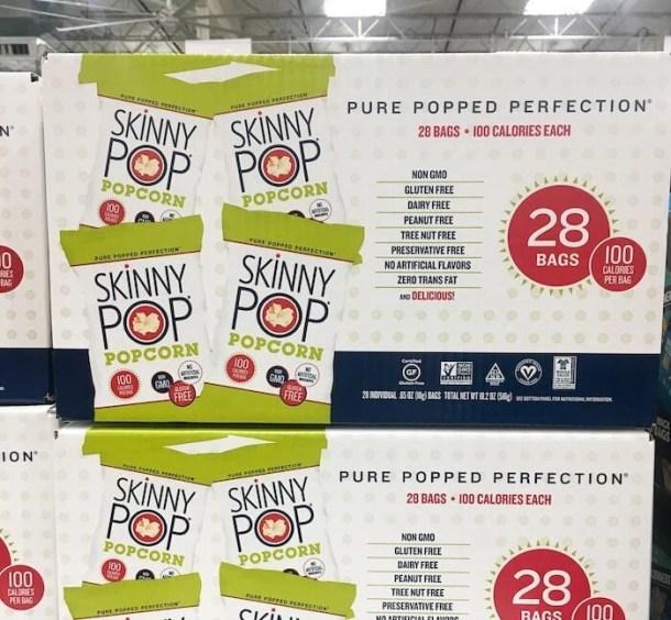skinny pop popcorn - best snacks costco