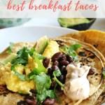 breakfast tacos recipe - pinterest