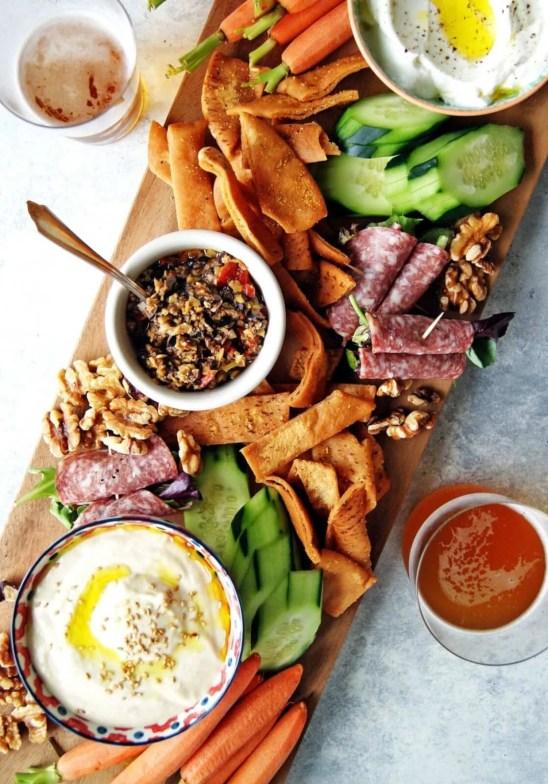 easy greek mezze platter