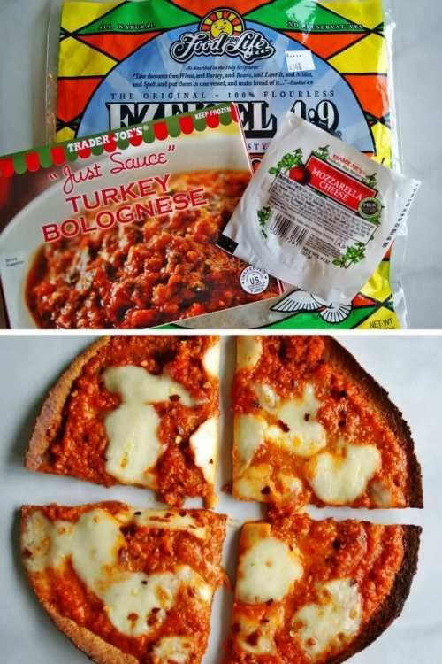 easy trader joes recipe turkey bolognese pizza