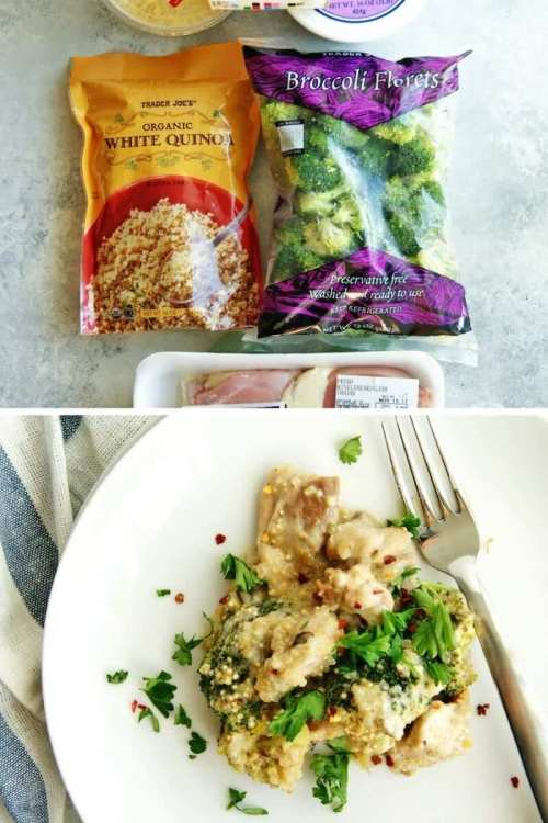 easy trader joes recipe chicken broccoli quinoa casserole
