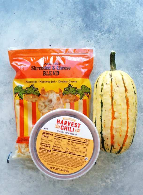 Easy Trader Joe's Recipe: Harvest Chili Stuffed Delicata Squash