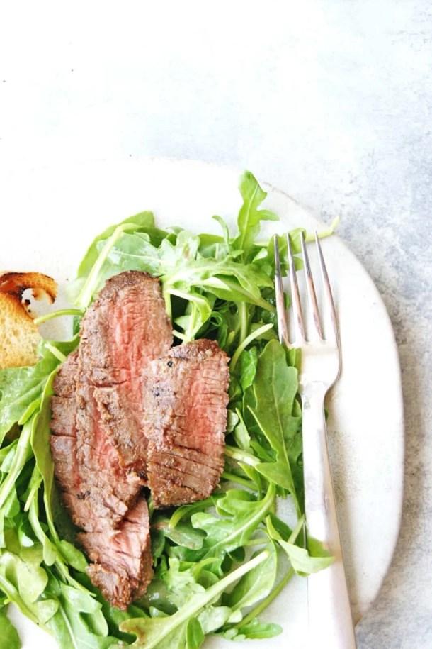 easy grilled flank steak salad