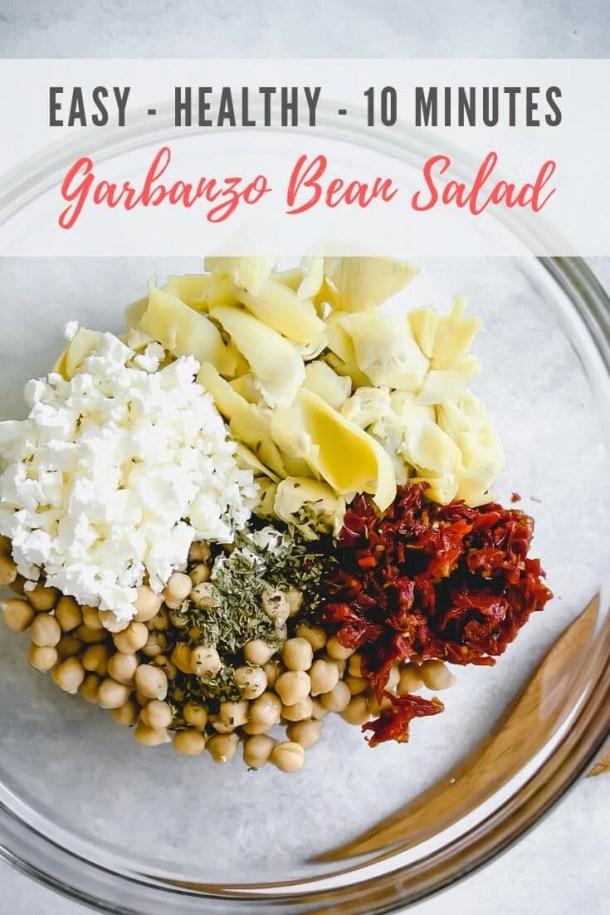 garbanzo bean salad - pinterest image