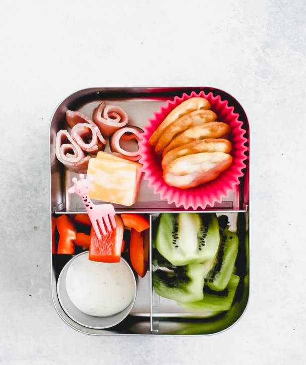 bento box recipe - overhead shot