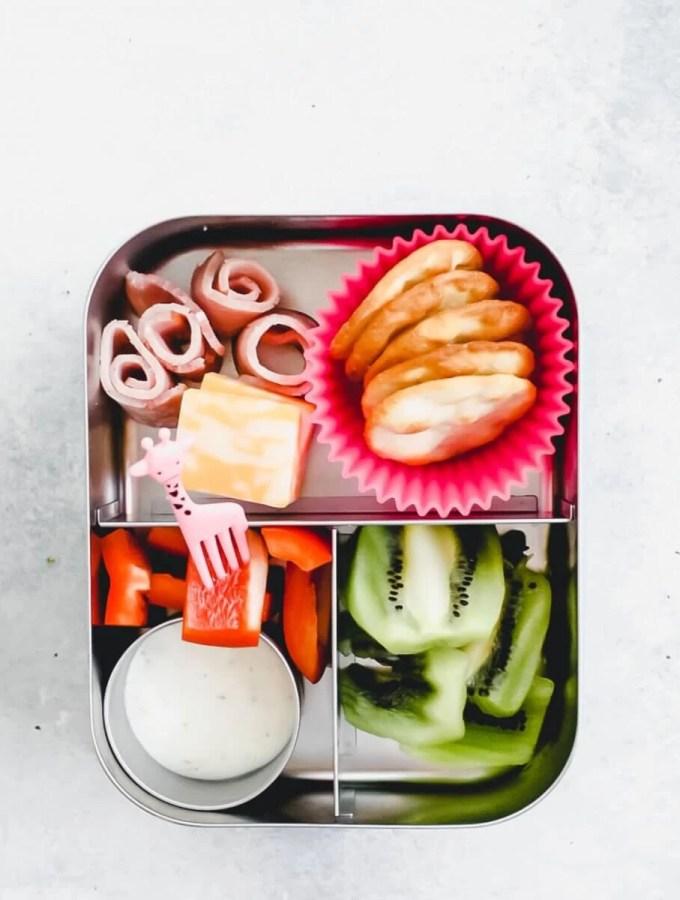 bento box recipe - overhead shot