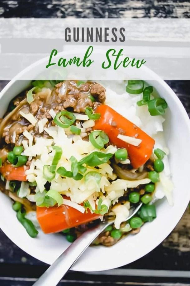 Lamb stew - pinterest image