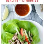 thai lettuce wraps recipe - pinterest