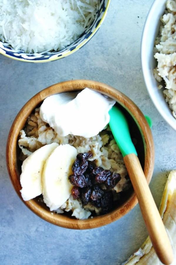 kids bowl of oatmeal