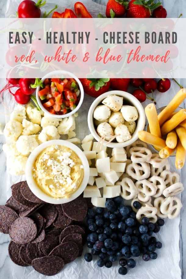 red white and blue cheese board - pinterest