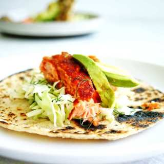 Healthy Salmon Tacos are an easy dinner your whole family will love!