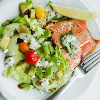 salmon with fresh dill butter