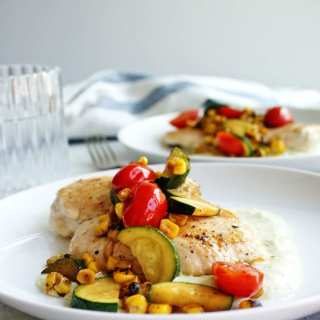 Summer Chicken Sauté is a healthy, easy chicken dinner recipe!