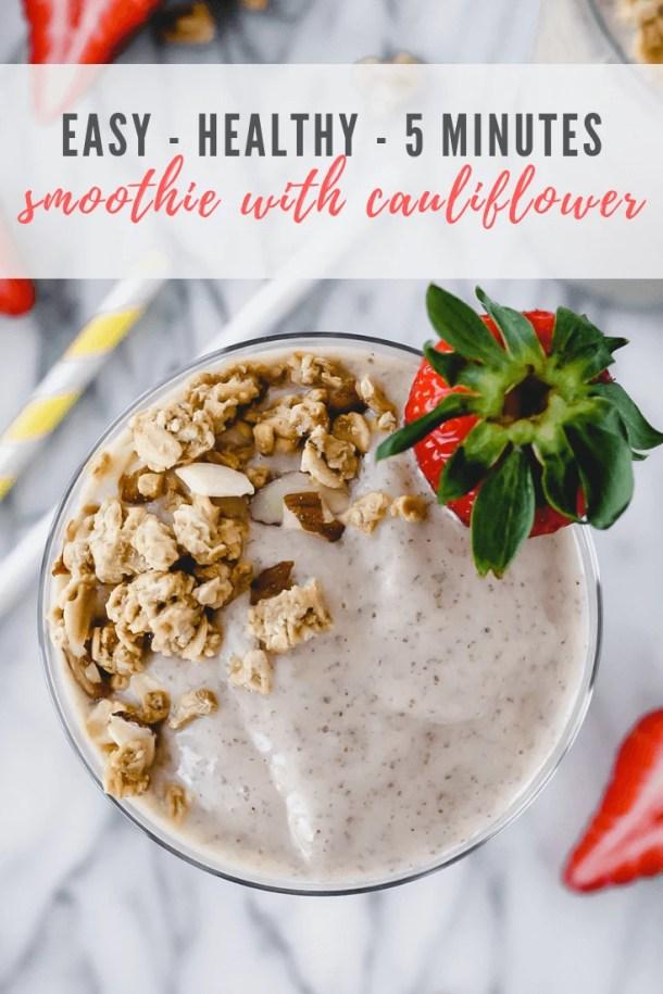 smoothie with cauliflower - pinterest image