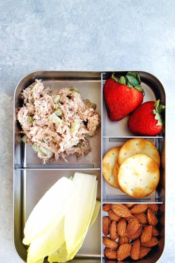 easy tuna salad snack plate