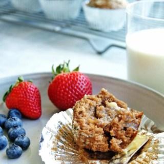 Whole Grain Blender Muffins: an easy recipe packed with whole grains! #healthymuffins #wholegrainmuffins #blendermuffins