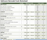 Home Remodel Estimate Spreadsheet  Remodel Quick Tips