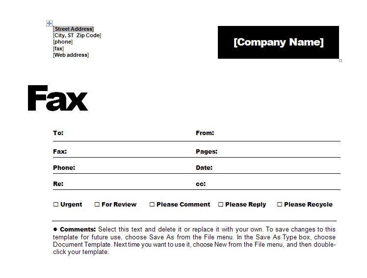 Fax Cover Sheet  Fax Coversheet  Fax CoverSheet
