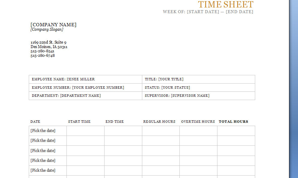 Printable Scheduling Sheets