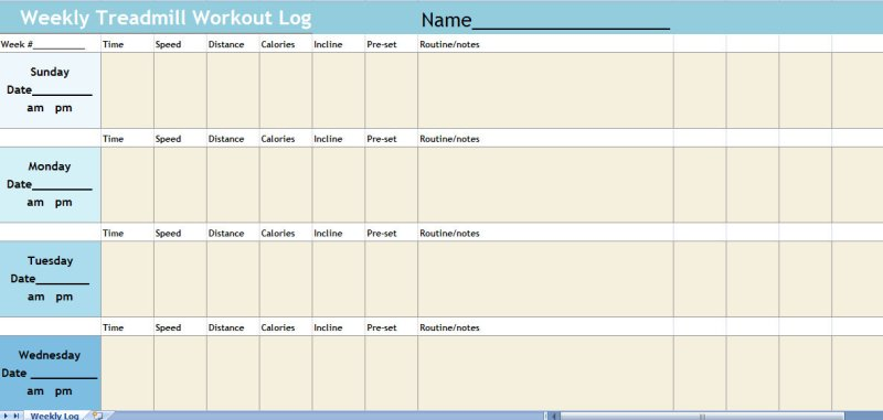 Excel Workout Sheet Template  Workout EverydayentropyCom