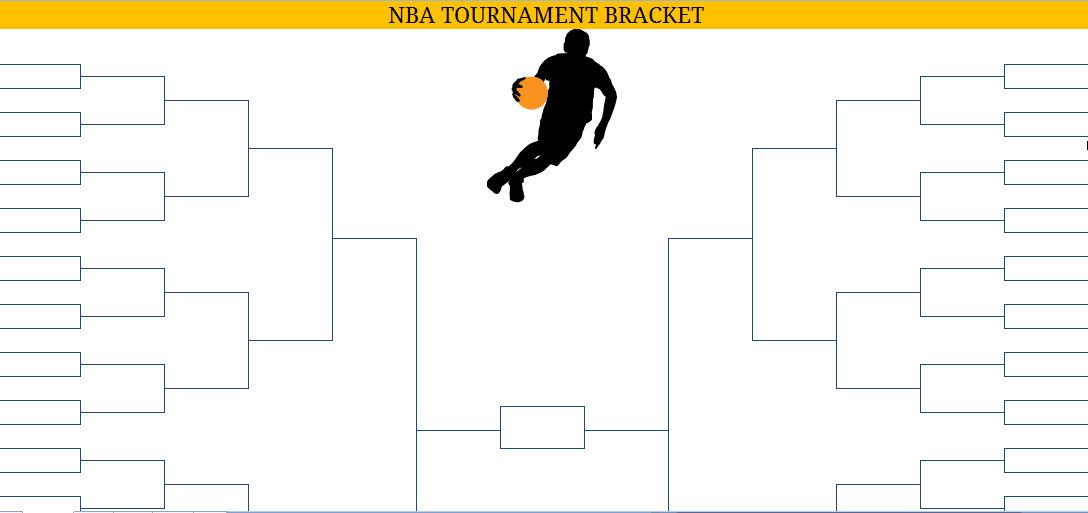 Printable Blank PDF NBA Playoffs Bracket