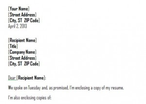 Cover Letter Template Word | Microsoft Word Cover Letter