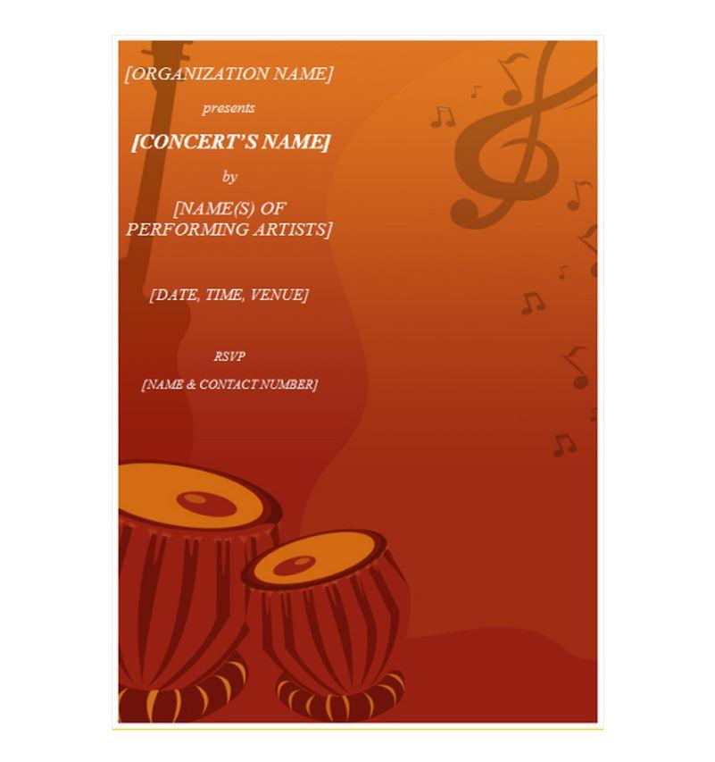 Concert Invitation Template  Concert Invitations